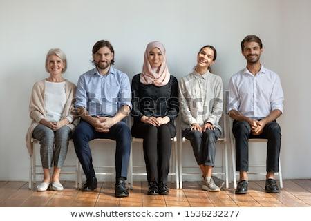 Moslim vrouw hijab vergadering interview kantoor Stockfoto © AndreyPopov