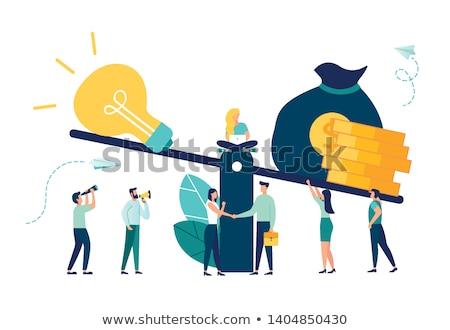 деньги Идея Весы инновация инвестиции Сток-фото © -TAlex-