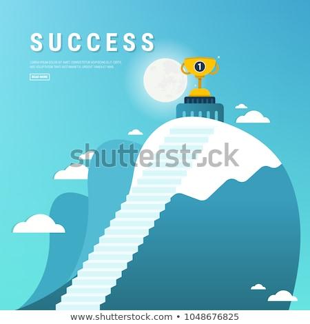 Objectif vecteur métaphore affaires serviette aspiration Photo stock © RAStudio