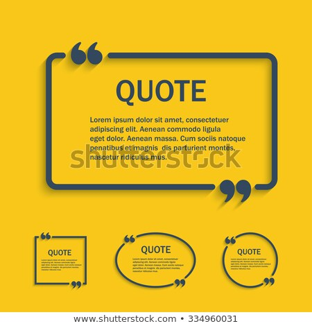 Set of Quote template with 3d form. Stock photo © ShustrikS