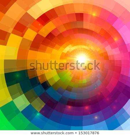 Creative vector illustration of shining sun with rainbow Stock photo © ussr