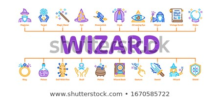 Wizard Magic Minimal Infographic Banner Vector Stock photo © pikepicture