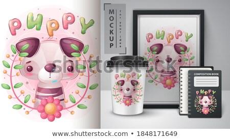 Puppy blad poster vector eps 10 Stockfoto © rwgusev