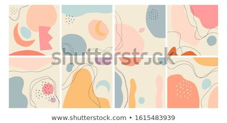 Kubisme abstract Blauw versie achtergrond kunst Stockfoto © orson