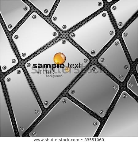 Raffinato metal piatto griglia industriali lucido Foto d'archivio © evgeny89