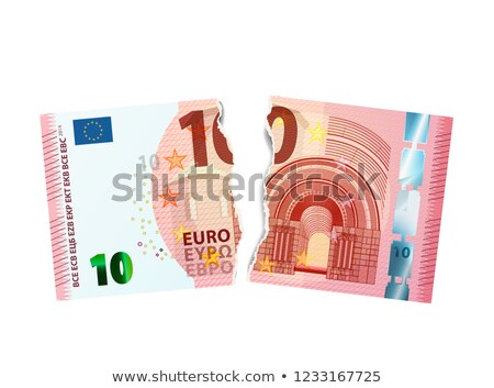 Realistisch tien euro bankbiljet gescheurd twee Stockfoto © evgeny89