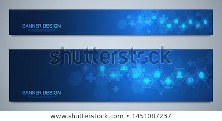 Biológia kutatás szalag vektor sablon tudományos Stock fotó © barsrsind
