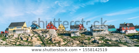 Greenland view of Ilulissat City and icefjord. Tourist destination in the actic Stock photo © Maridav