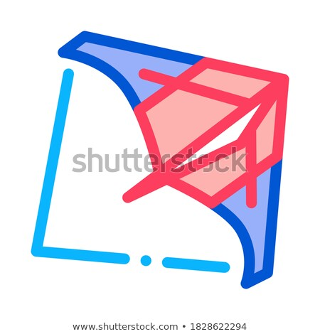 view of air launch aircraft icon vector outline illustration Stock photo © pikepicture