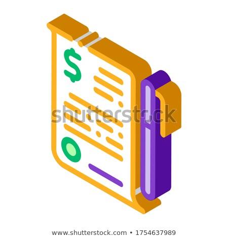 Finanziellen Dokument Datei Vereinbarung Stift Stock foto © pikepicture