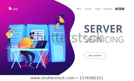 администрация посадка страница рабочих сервер Сток-фото © RAStudio
