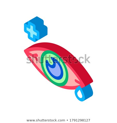 Sore Sick Tear Eye Organ isometric icon vector illustration Stock photo © pikepicture