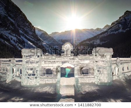 пеший турист заморожены озеро Невада гор университета Сток-фото © pancaketom