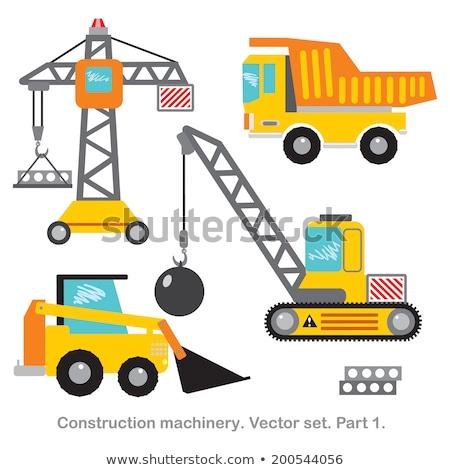vektor · útépítés · izolált · fehér · építkezés · felirat - stock fotó © sahua