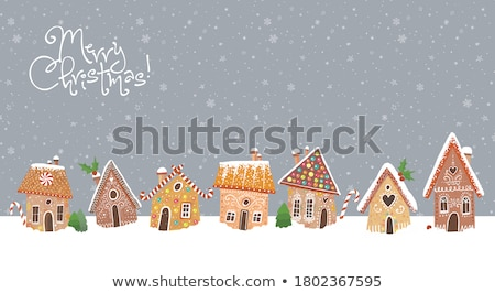 vector · gember · witte · icing · Rood - stockfoto © orson