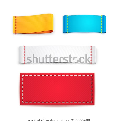 Colorful horizontally stitched fabric Stock photo © Arsgera