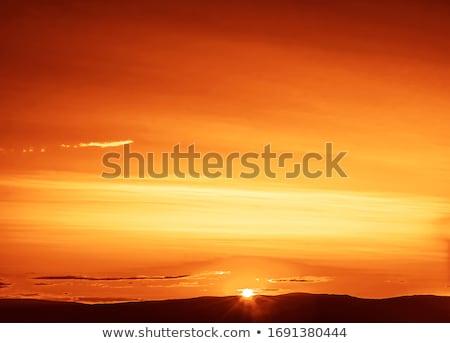 Kilátás látványos naplemente égbolt fény háttér Stock fotó © moses