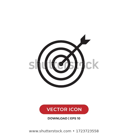 Stock photo: Black and white target.