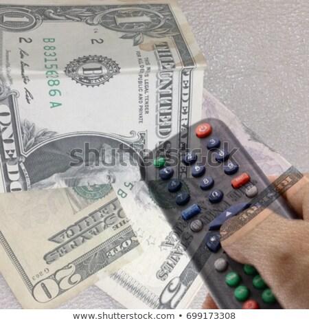 Controle remoto televisão tecnologia cor branco Foto stock © eyeidea