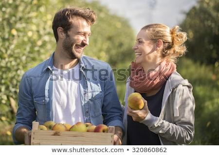 Couple with apple stock photo © pressmaster