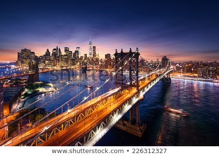 Manhattan Bridge, view of from The Empire State Building, New Yo Stock photo © phbcz