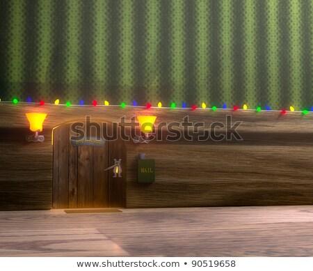 Bay fare ev ahşap Noel dekore edilmiş Stok fotoğraf © vetdoctor