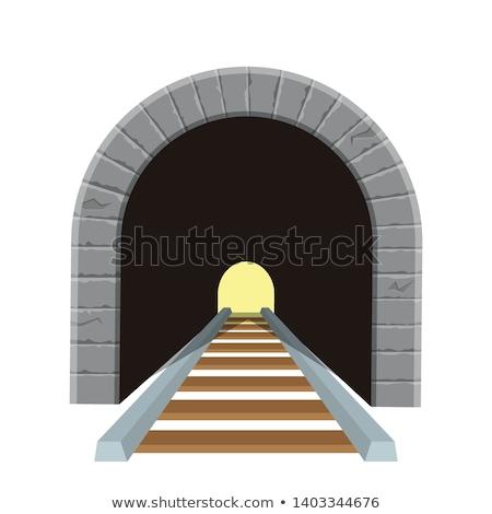 Alagút bejárat függőleges kép kő Stock fotó © pancaketom