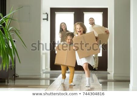 famille · nouvelle · maison · ingénieur · maison · construction · enfant - photo stock © photography33