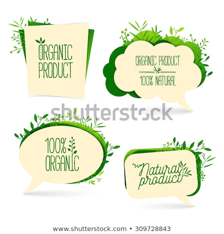 original style green eco paper tags stock photo © davidarts
