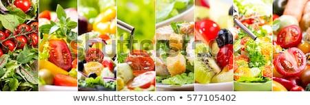 コラージュ · 健康 · カプレーゼ · ギリシャ語 · エビ - ストックフォト © redpixel