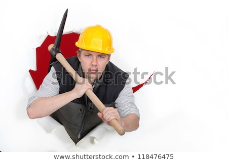 Man wielding pick-axe Stock photo © photography33