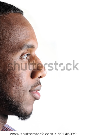 Teenage african-american with few acnes on his face Stock photo © zurijeta