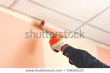 Photo stock: Peintre · plafond · maison · avion · couleur · blanche