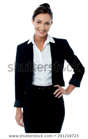 Elegant entrepreneur posing with hands on her waist Stock photo © stockyimages