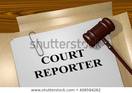 Tribunal repórter trabalhando profissional máquina isolado Foto stock © lisafx