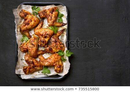 heerlijk · barbecue · kip · voedsel · oranje · restaurant - stockfoto © RachelD32
