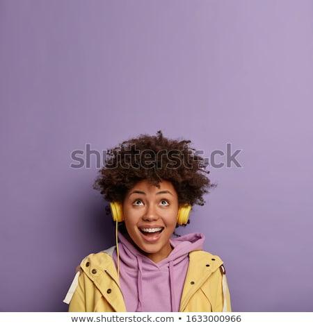 Ritmus nő zene mosoly boldog divat Stock fotó © photography33