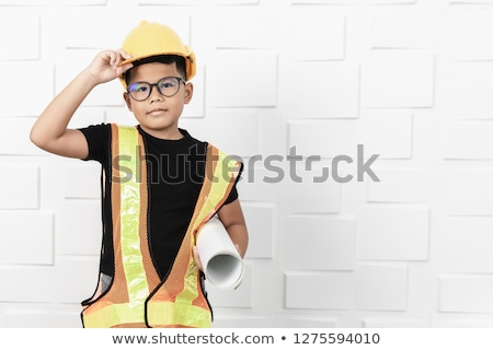 weinig · jongen · tools · glimlachend · boren · houten - stockfoto © photography33