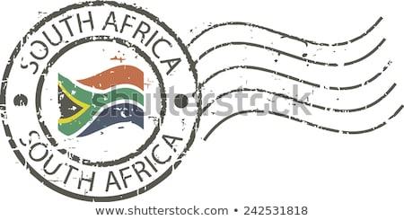 почты ЮАР изображение штампа карта флаг Сток-фото © perysty