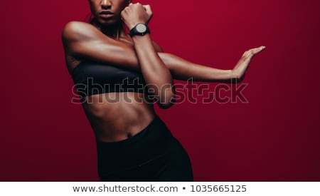 Young woman warming up Stock photo © stryjek