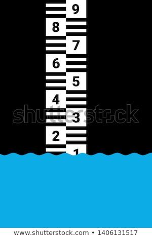 川 ゲージ 水 さびた ストックフォト © stevanovicigor