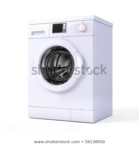 mosógép · fehér · víz · munka · háttér · gép - stock fotó © ozaiachin
