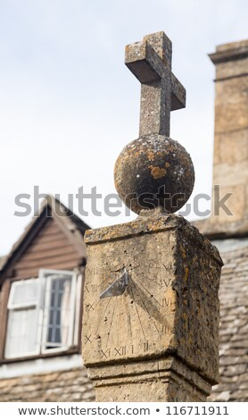 Old sundial in Stanton Cotswolds Stock photo © backyardproductions