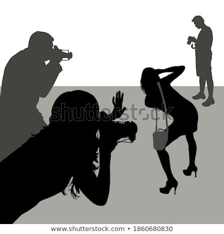 Foto d'archivio: Fotografo · immagini · isolato · donna