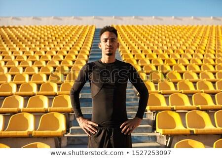 Masculino treinamento estádio fitness exercer vermelho Foto stock © wavebreak_media