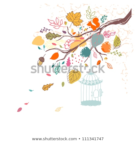 gratis · vogels · vector · Open · boom - stockfoto © beaubelle