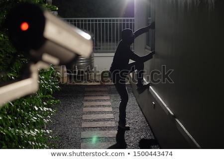 betörő · fekete · tolvaj · grunge · beton · fal - stock fotó © stevanovicigor