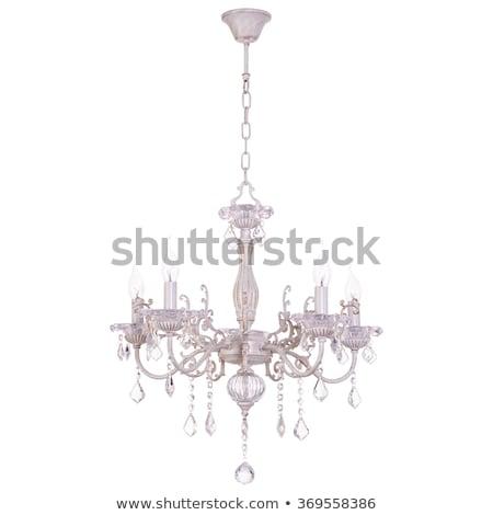 chandelier white isolated Stock photo © ozaiachin