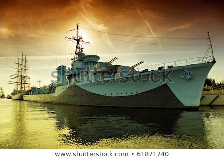 detail of big war ship  Stock photo © jonnysek