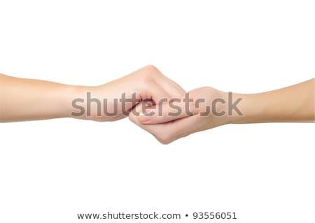 Eller biçim kilitlemek diğer yalıtılmış Stok fotoğraf © vkraskouski